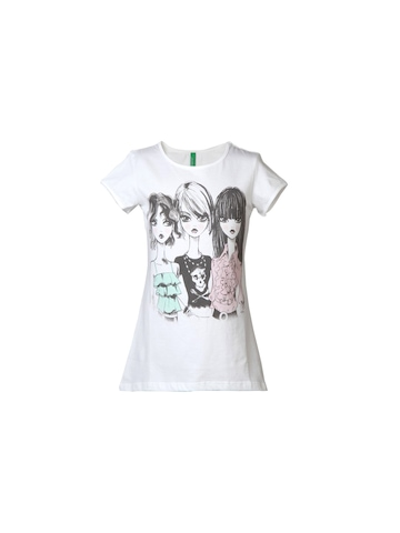 United Colors of Benetton Kids Girls White Top