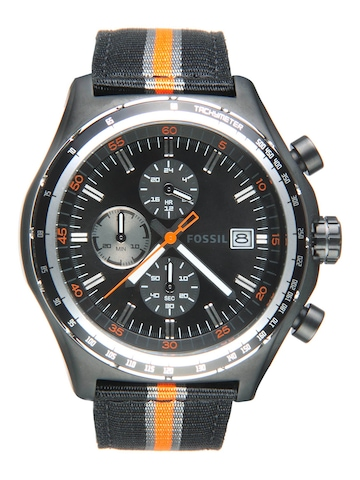 Fossil Men Black Dial Chronograph Watch CH2732