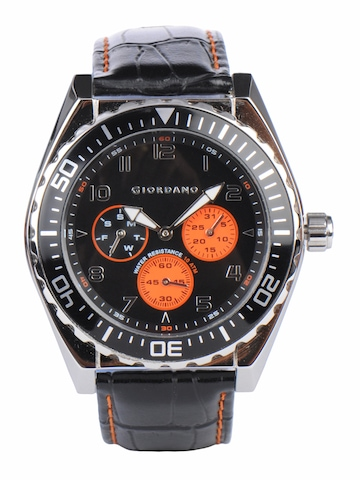 Giordano Men Black Dial Watch