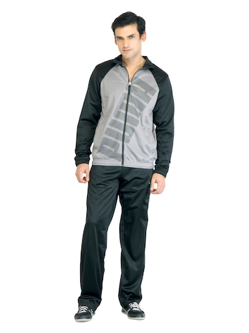 Puma Men Tricot Graphic Grey Tracksuit