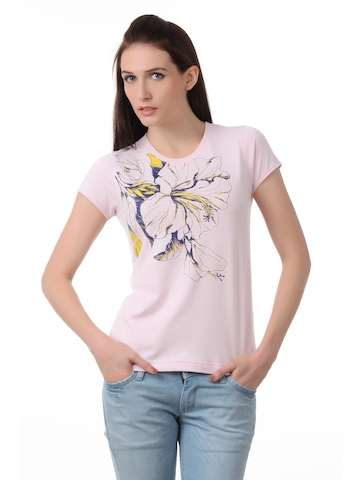 Myntra Women Pink T-shirt