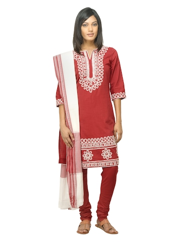 Biba Women Red Salwar Suit
