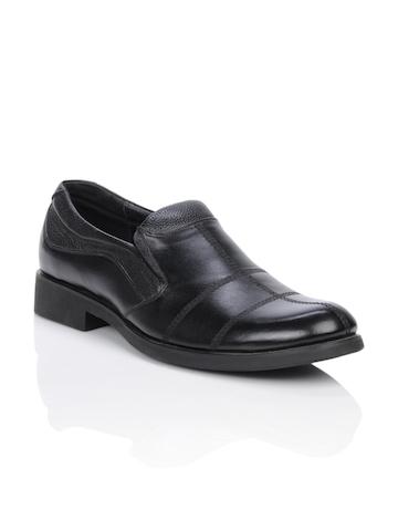 Homme Men Black Semi Formal Shoes