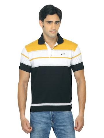 Proline Men Black Polo T-shirt
