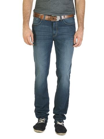 Lee Men Blue Scraped Jeans