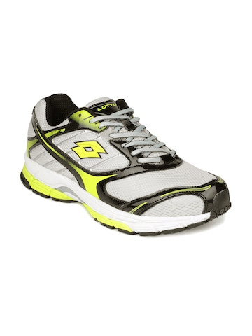 Lotto Men Silver & Green Sports Shoes
