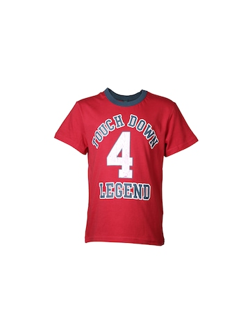 United Colors of Benetton Kids Boys Red Printed T-shirt