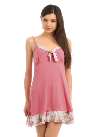 Enamor Women Pink Highspirit Nightdress