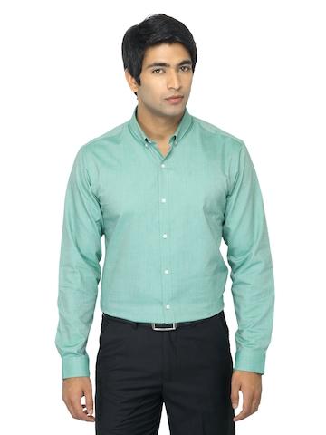 Arrow New York Men Green Slim Fit Shirt