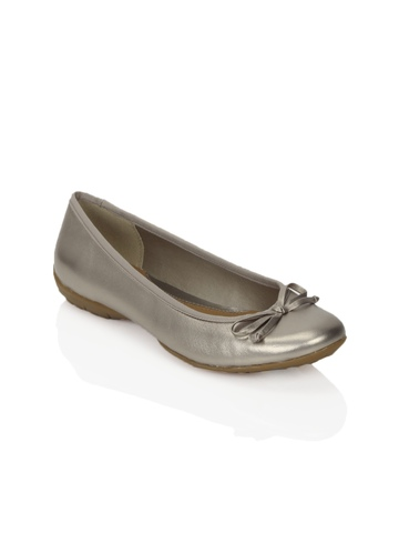 Clarks Women Arizona Heat Leather Silver Shoes