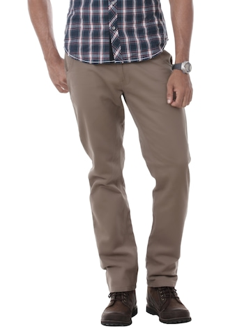 United Colors of Benetton Men Brown Trousers