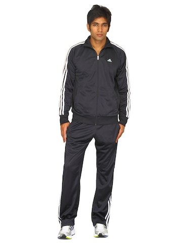 Adidas Men's Dark Navy White Tracksuit