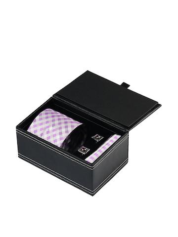 Turtle Men Formal Purple Tie, Cufflink and Pocket Square Combo Set