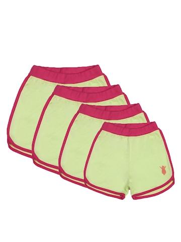 Madagascar3 Girls Green Shorts