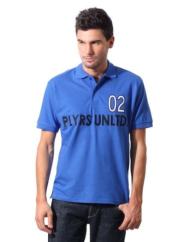 John Players Men Polo Blue T-shirt
