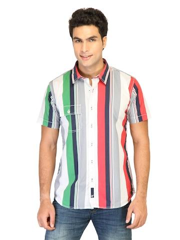 Probase Men Stripes Blue Shirts
