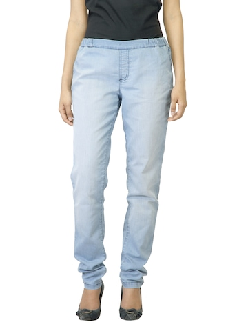 Jealous 21 Women Washed Light Blue Jeggings