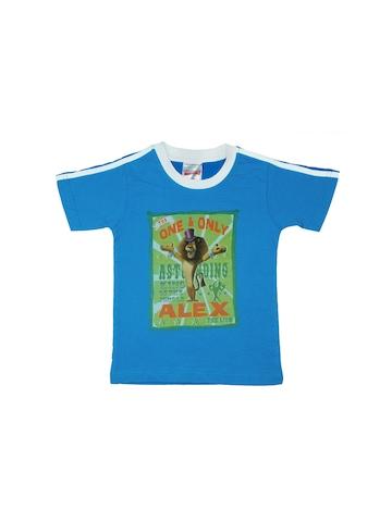 Madagascar3 Boys Printed Blue T-Shirt