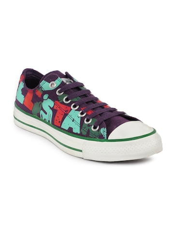 Converse Unisex Chuck Taylor All Star Print Purple Casual Shoes