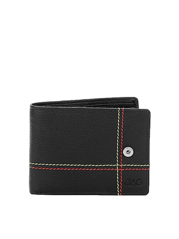 JAG Men Black Leather Wallet