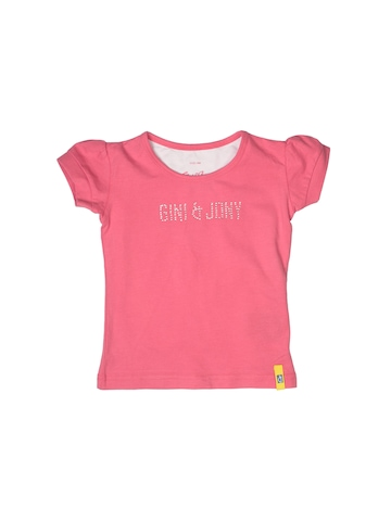 Gini and Jony Girls Peach Top