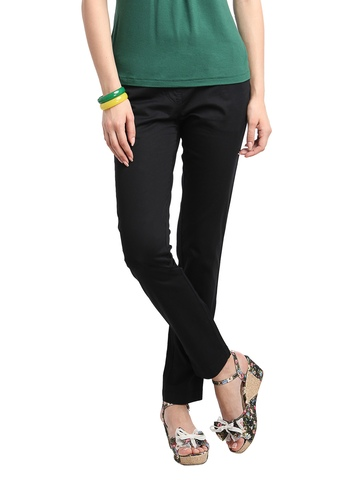 Scullers For Her Women Black Trousers