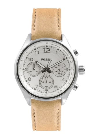 Fossil Women White Dial Chronograph Watch CH2824