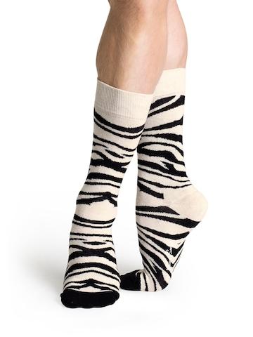 Happy Socks Unisex Cream Socks