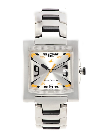 Fastrack Men Silver-Toned Dial Watch N1229SM04