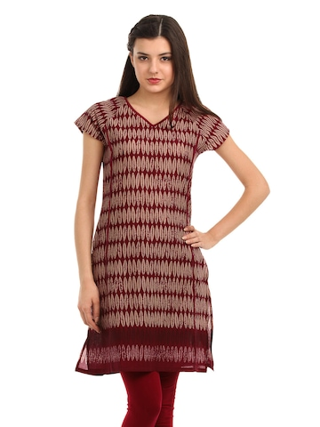 W Women Burgundy Kurta