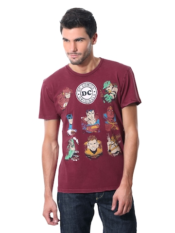 DC Comics Men Crew Red T-shirt