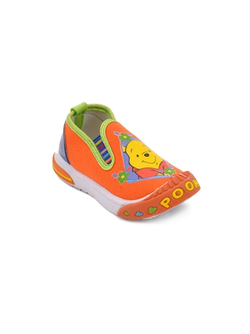 Disney Kids Girl Pooh Face Orange Casual Shoes