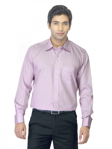 Genesis Men Check Lavender Shirt