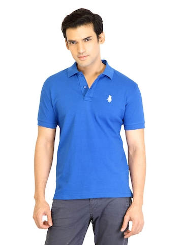 Regent Polo Club Men Solid Blue Tshirt