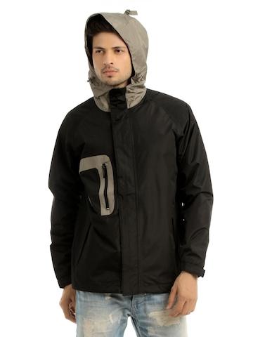 Just Natural Unisex Black Rain Jacket