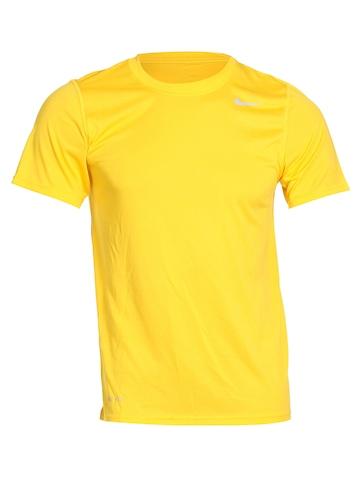 Nike Men Yellow T-shirt