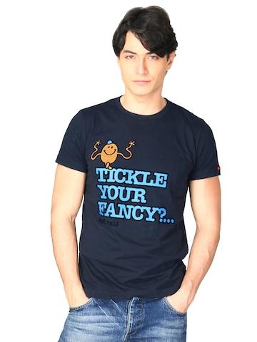 Mr.Men Men's Navy Blue T-shirt