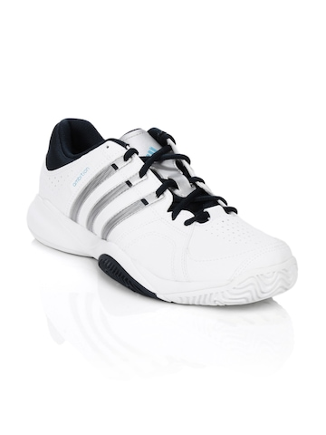 Adidas Men Ambition VII Stripes White Sports Shoes