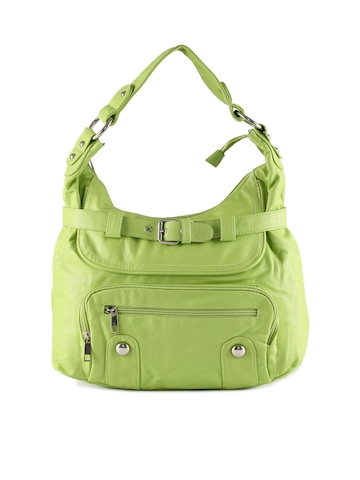 Kiara Women Buckel Green Handbag