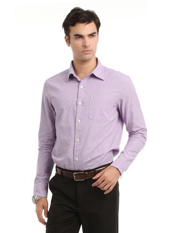 Myntra Men Lavender Striped Shirt