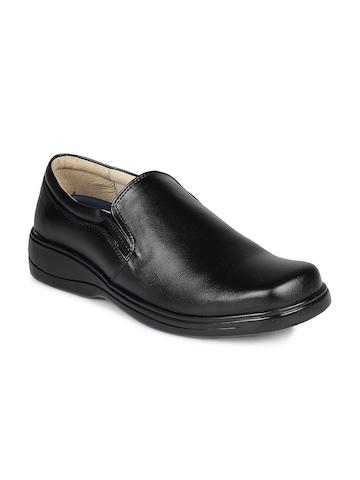 Gliders Men Black Formal Shoes