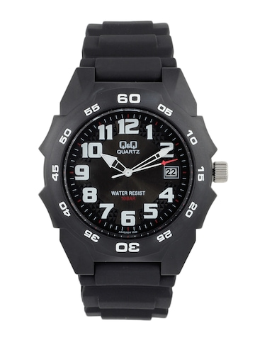 Q&Q Men Gents ANALOG Black Watches
