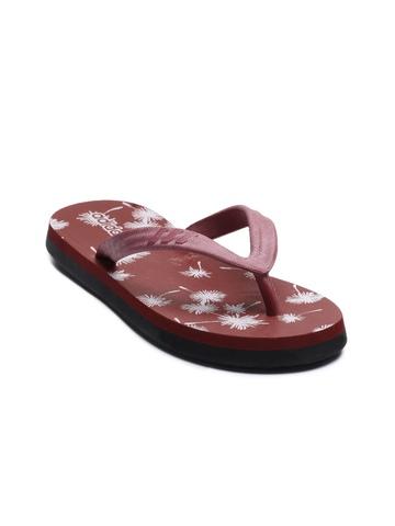 Adidas Women Spring Red Flip Flops