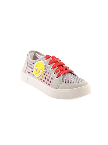 Warner Bros Kids Girls TW Net Face Canvas Grey Casual Shoes