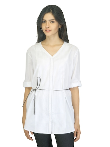 United Colors of Benetton Women White Tunics