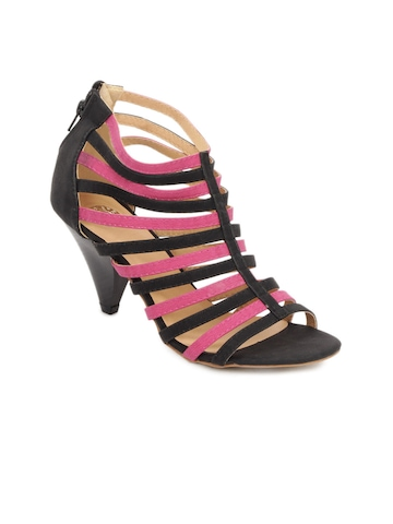 Cobblerz Women Black &Pink Sandals