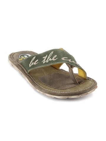 ID Men Green Casual Sandals