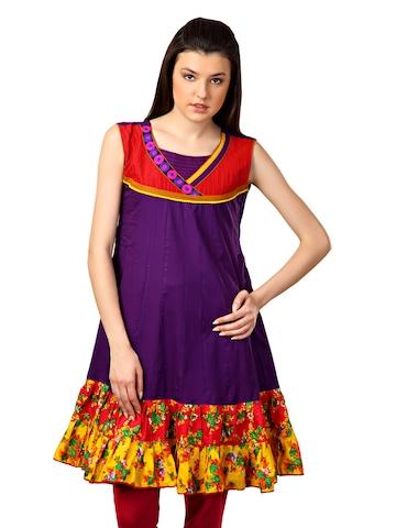 Span Women Purple Kurta