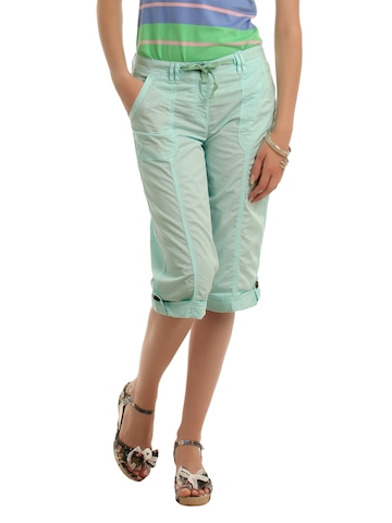 Allen Solly Woman Blue Capri