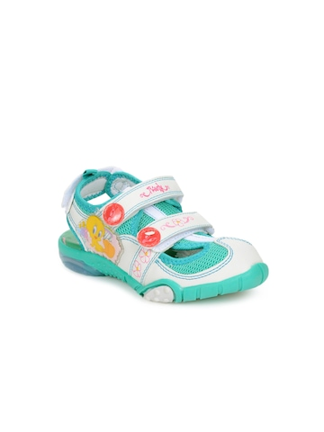 Warner Bros Unisex White Kids sandals